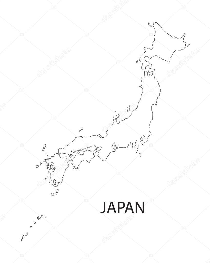 Outline Of Japan Map Stock Vector C Chrupka 65177185