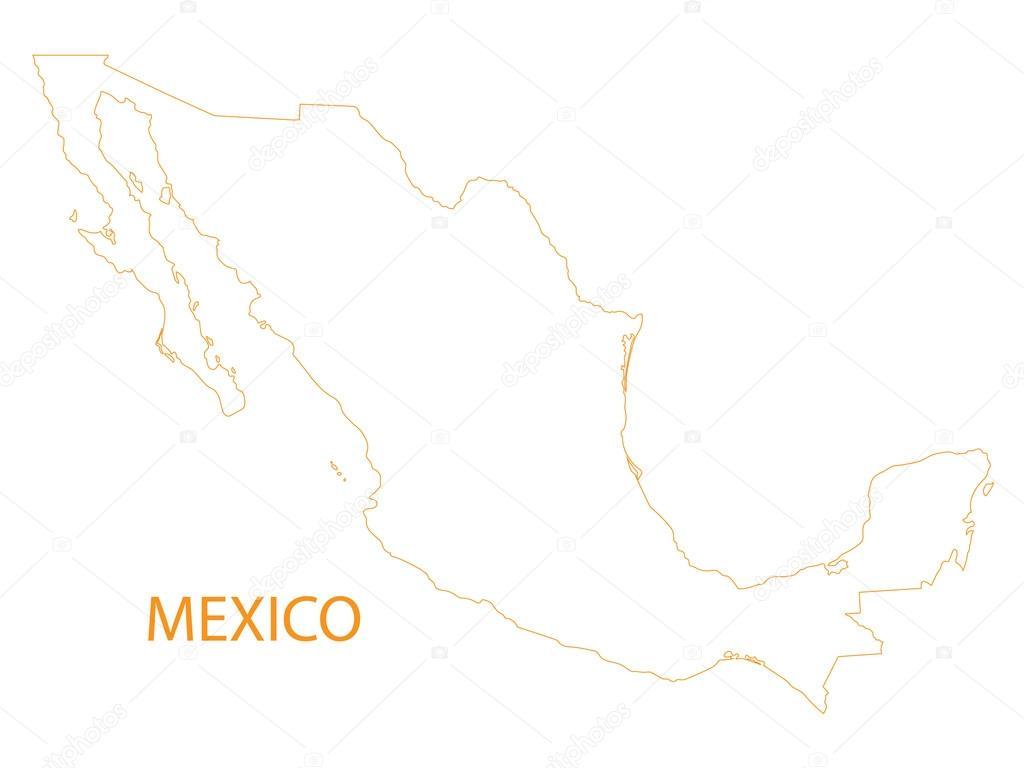 Mexiko Karte Umriss.Umrisse Der Karte Von Mexiko Stockvektor C Chrupka 65328689
