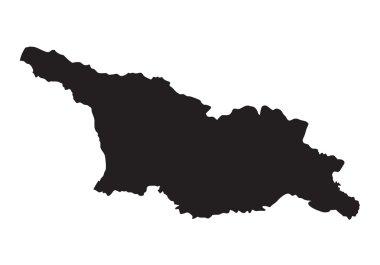 Black map of Georgia