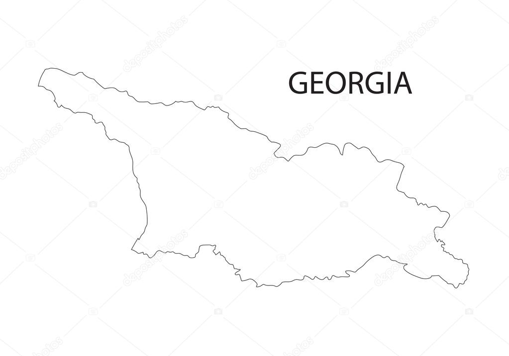 Map Of Georgia Outline.Outline Of Georgia Map Stock Vector C Chrupka 65930505
