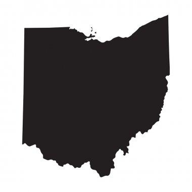 Black map of Ohio