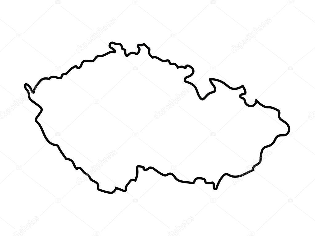 Mapa Mapa Ceske Republiky Obrys