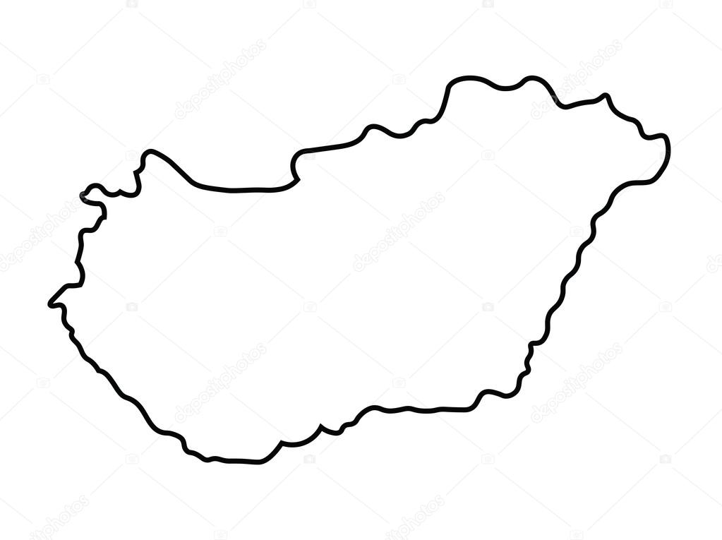 Black Abstract Map Of Hungary Stock Vector C Chrupka 66980035