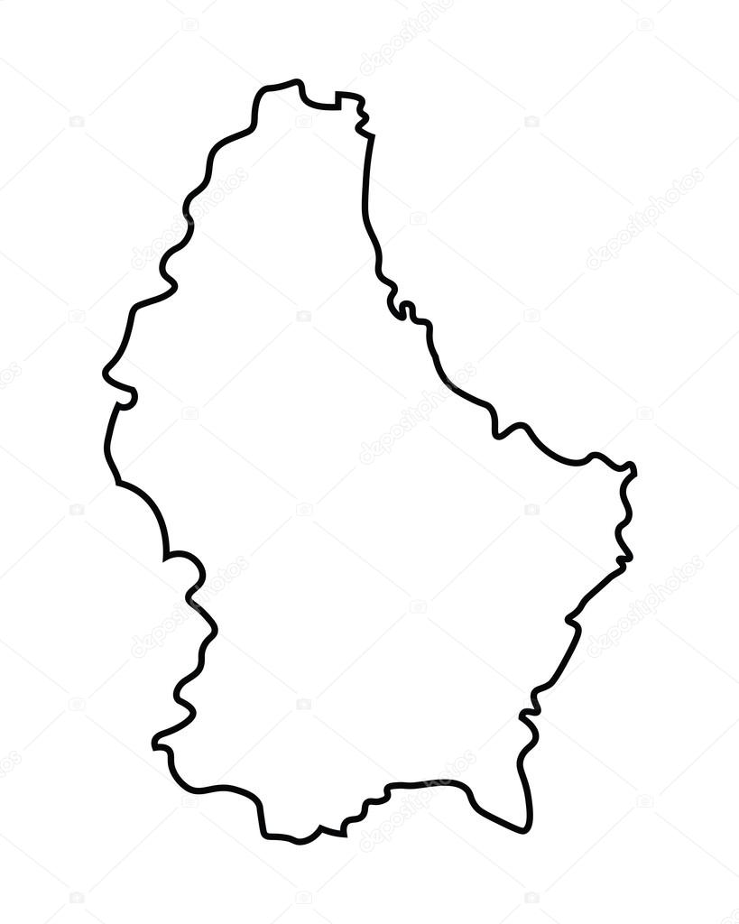 Black Abstract Map Of Luxembourg Stock Vector Chrupka - Luxembourg map vector