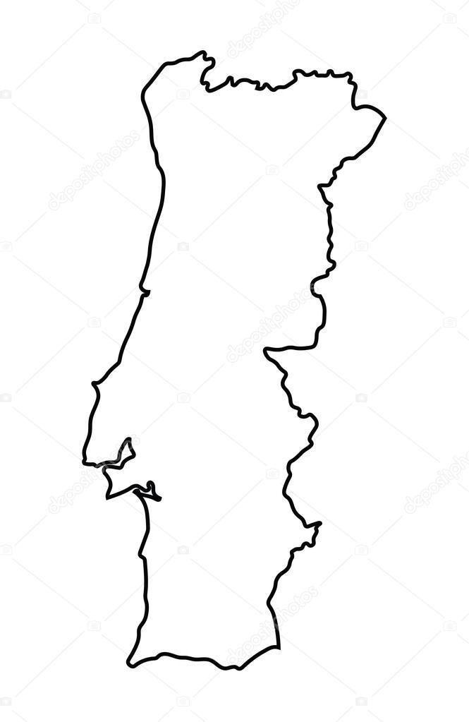 mapa de portugal vectorizado Resumo mapa de Portugal — Vetor de Stock © chrupka #67090605 mapa de portugal vectorizado
