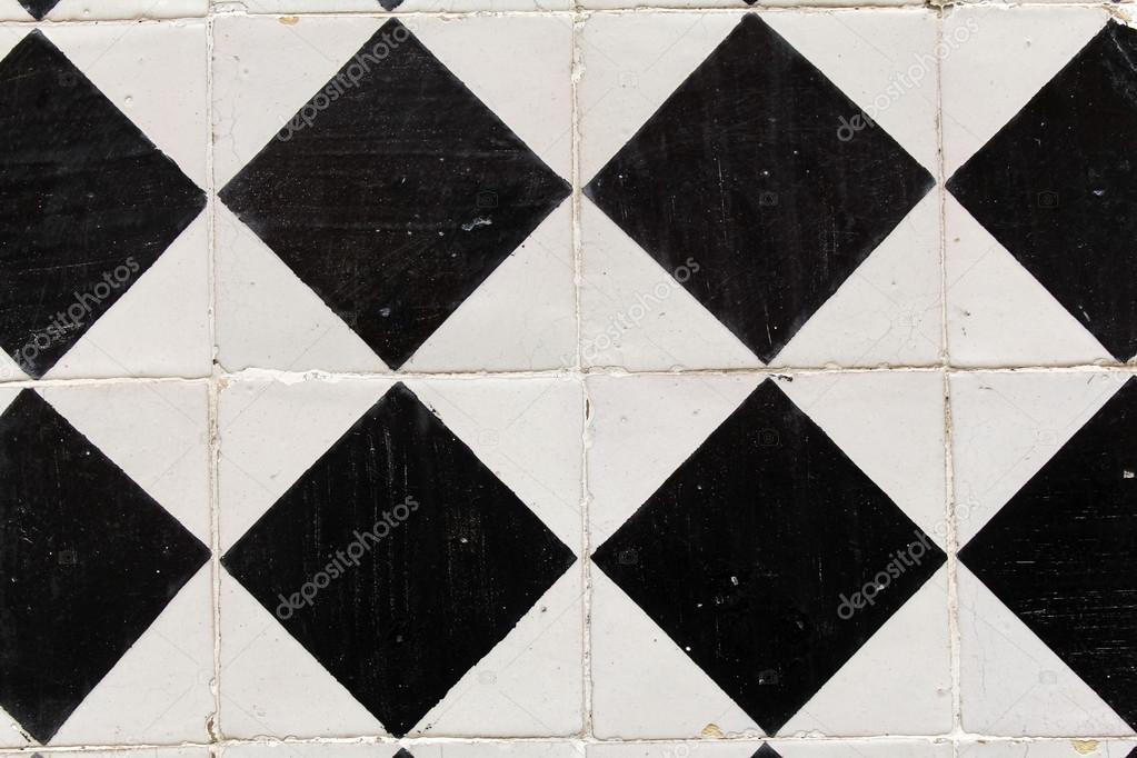 Sfondo di piastrelle bianche e nere u foto stock chrupka