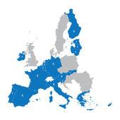 Mapa členských zemí eurozóny