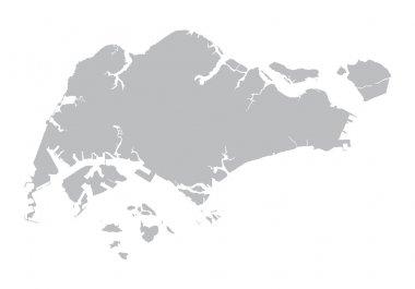 grey map of Singapore