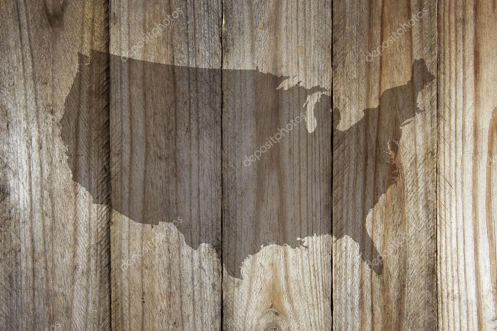 Wood United States Map.United States Map On Wooden Background Stock Photo C Chrupka 84552268