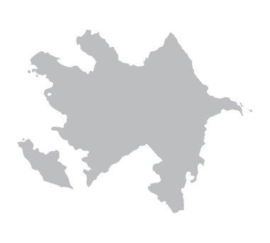 grey map of Azerbaijan