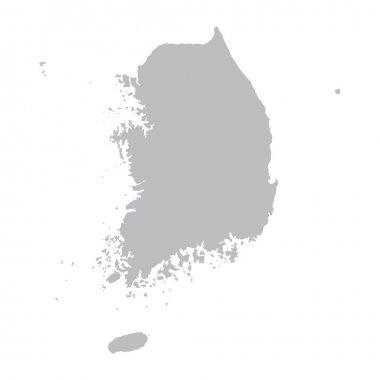 grey map of South Korea
