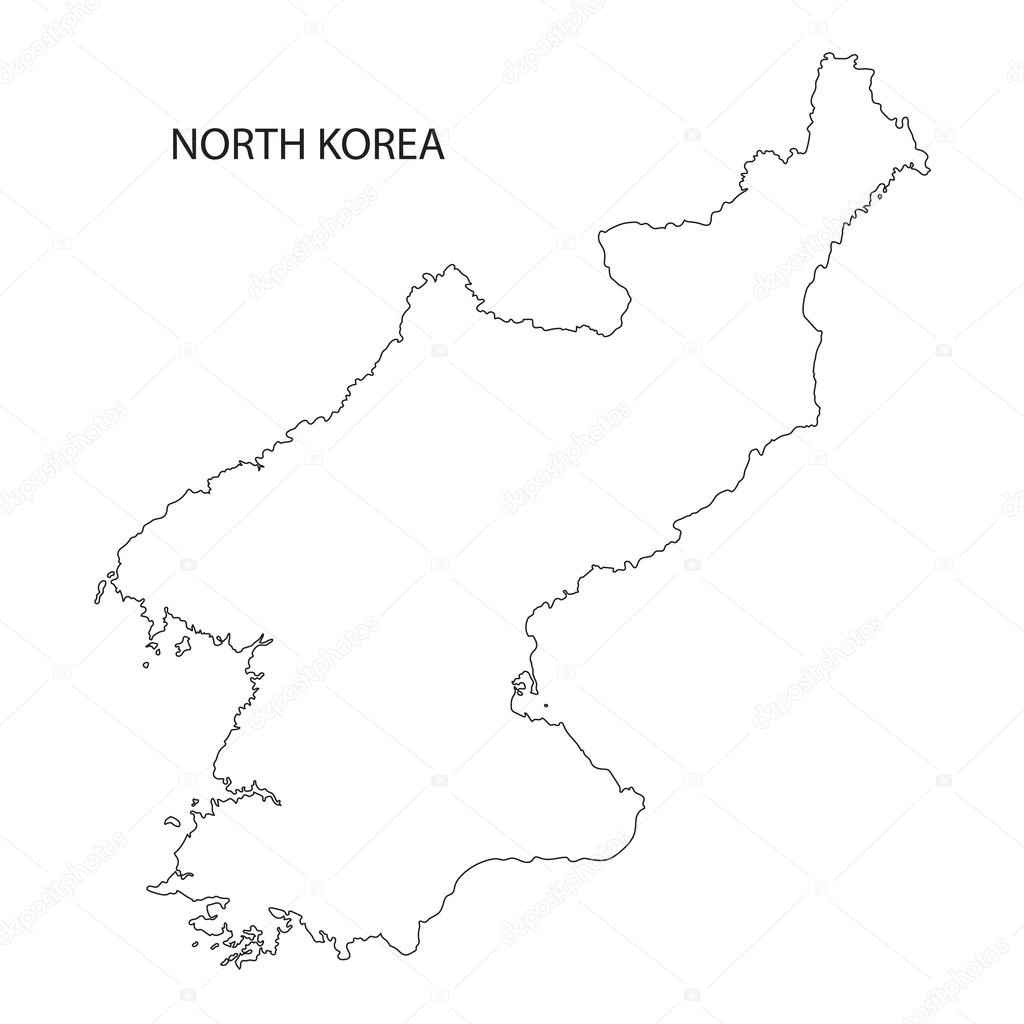 Outline Of North Korea Map Stock Vector C Chrupka 85503770