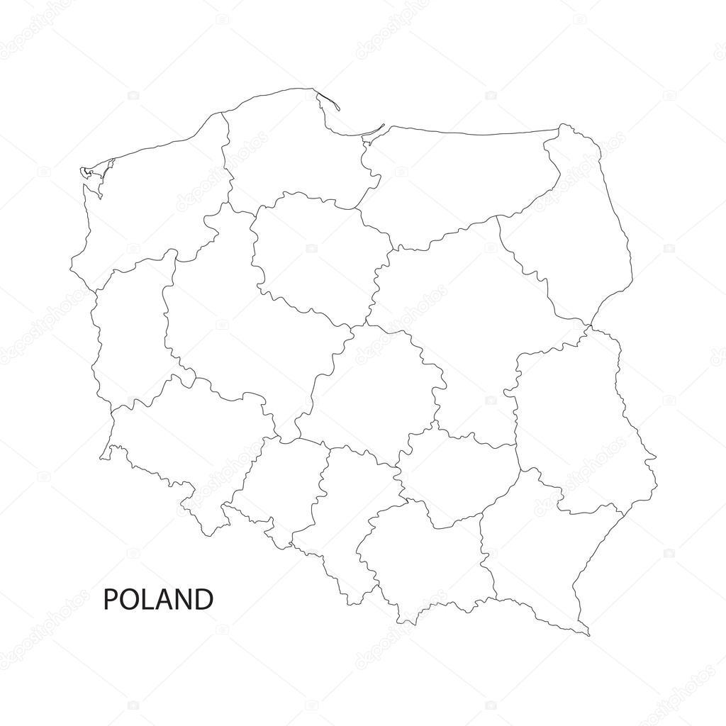 Polen Karte Umriss.Umriss Der Polen Karte Stockvektor C Chrupka 86256796