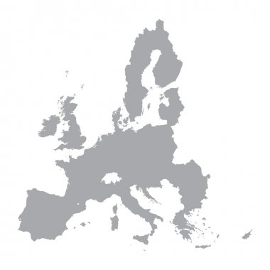 grey map of European Union