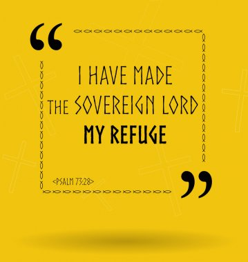 Bible quotes about finding refuge in God