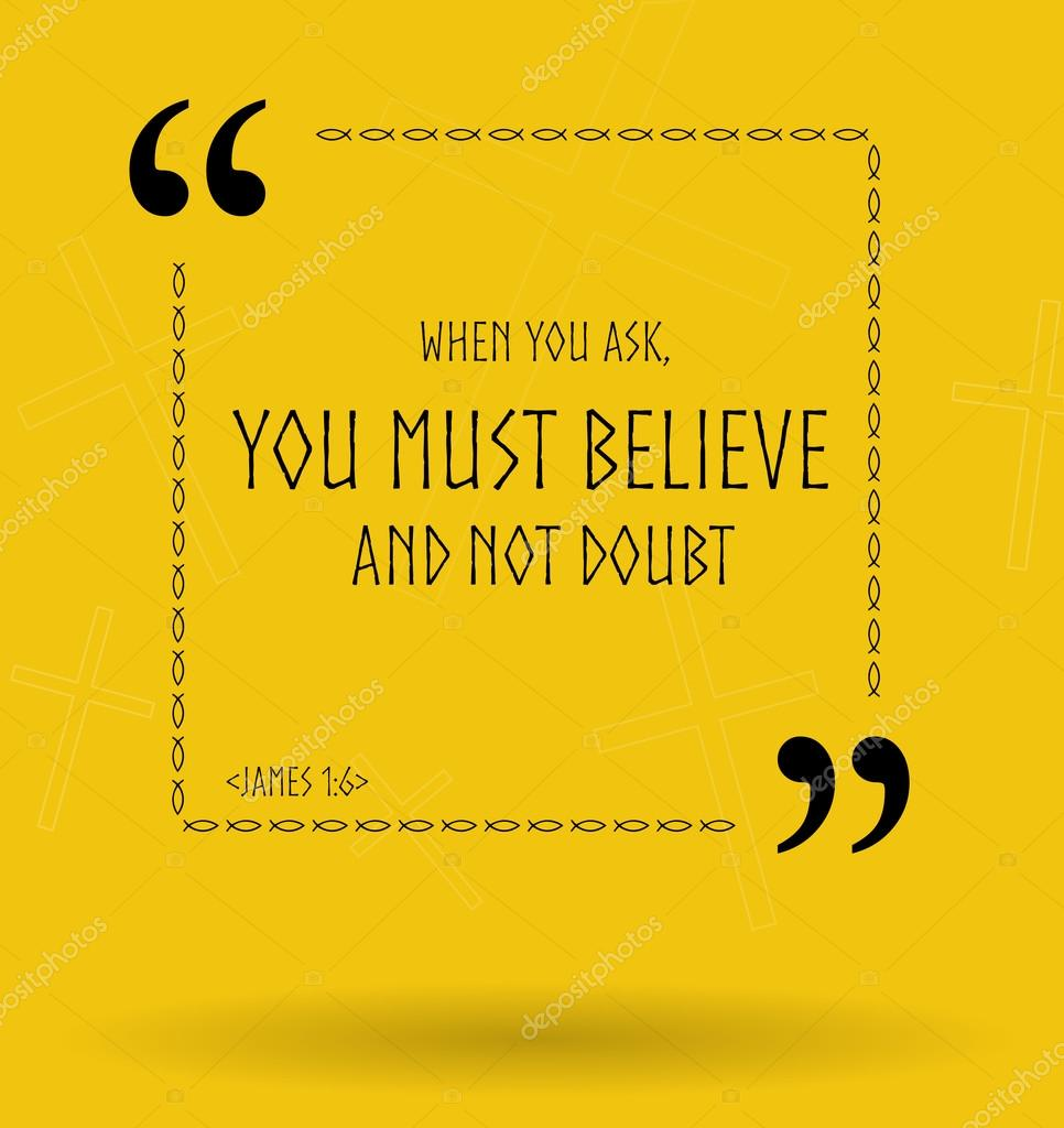 Bible Quotes About Faith Bible Quotes About Christian Faith Without Doubt  Stock Photo