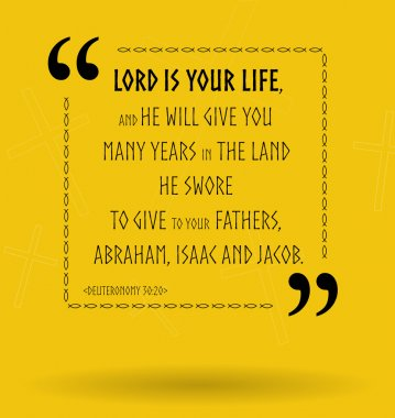 Bible quotes about God as our life