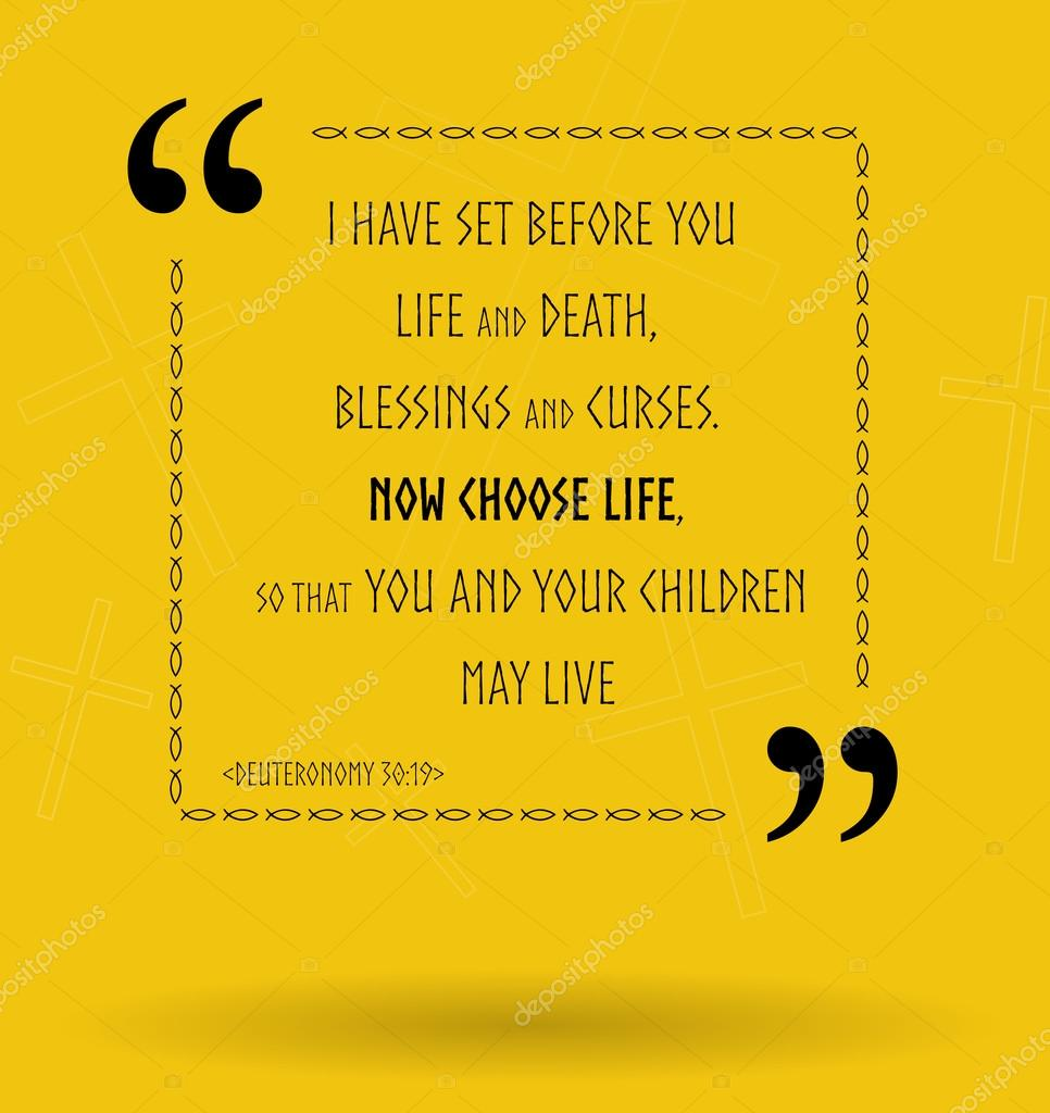 Quotes About Life From The Bible Bible Quotes About Life Choice  Stock Photo © Maxterdesign 112945186