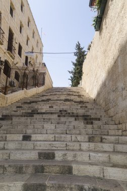 Stairs of the Church of the Nativity in Bethlehem, Palestine