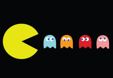 Pac-Man with his enemies