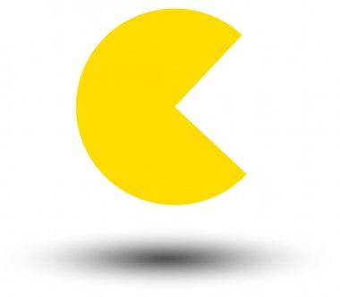Yellow Pac-Man shape