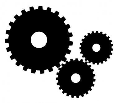 Indistrial gears vector illustration