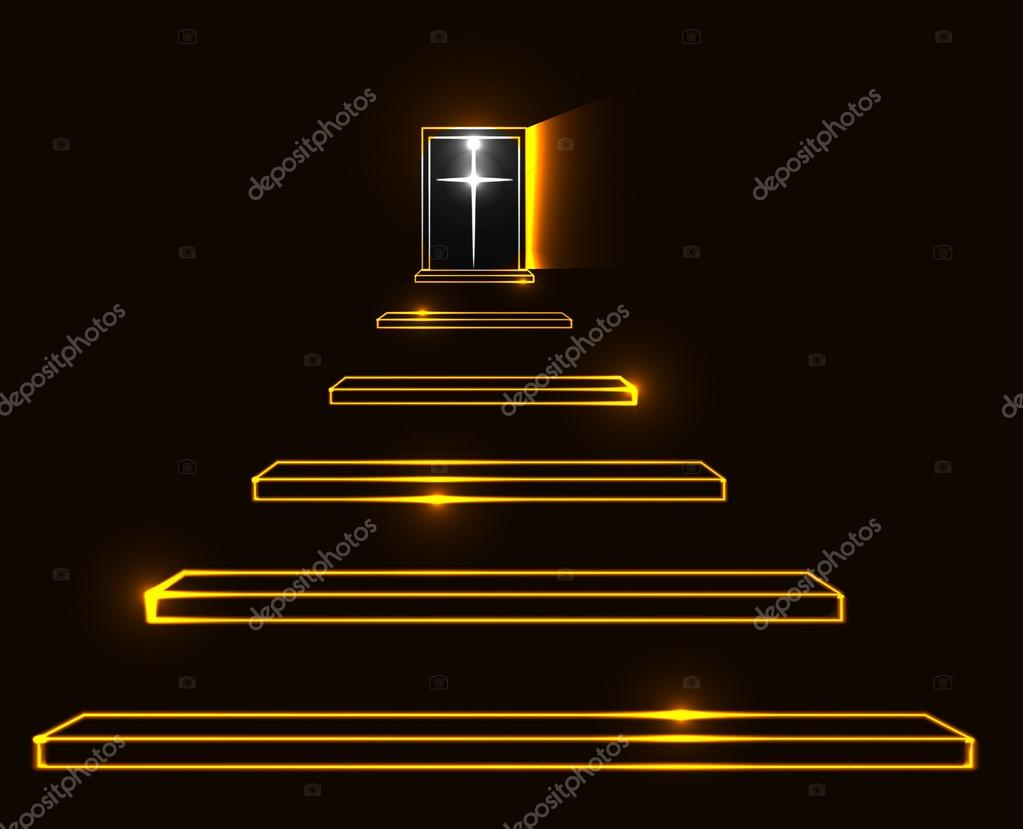 Ladder Clipart Stairway To Heaven - Stairway To Heaven Illustration, HD Png  Download - kindpng