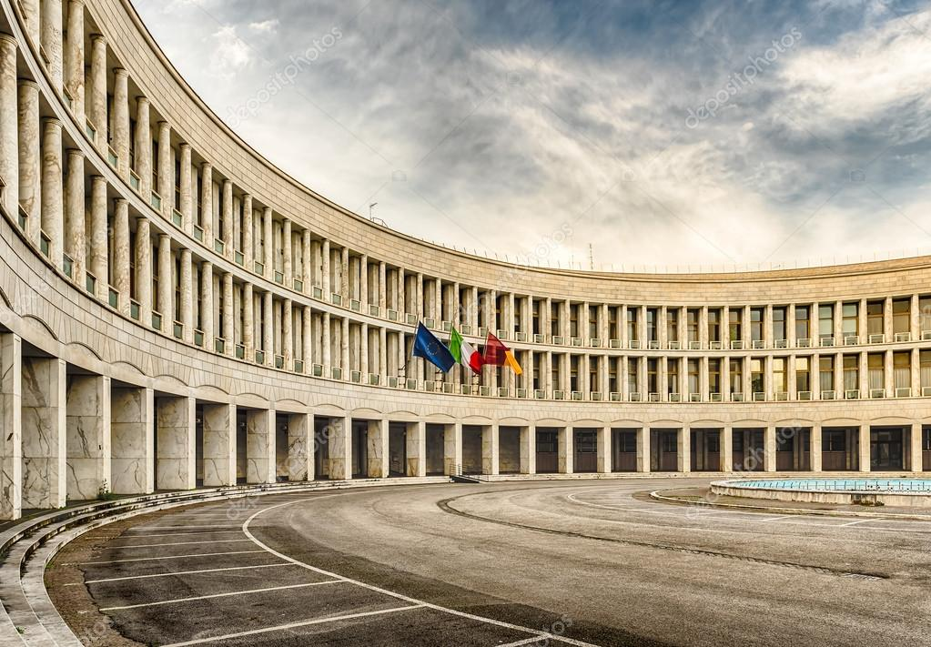 neoclassical architecture in eur district rome italy stock photo