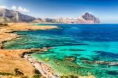 Photo Panoramic View Over Sicilian Coastline and Cofano Mountain