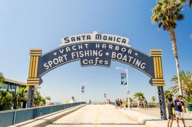 Santa Monica iconic entrance arch, California