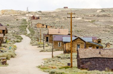 Main Street in the Gold Mining Ghost Town of Bodie, California
