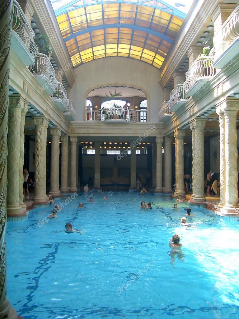 Banos Gellert.Gellert Thermal Baths And Swimming Pool Budapest Stock