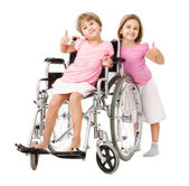 Ragazze thumbing fino con lhandicap