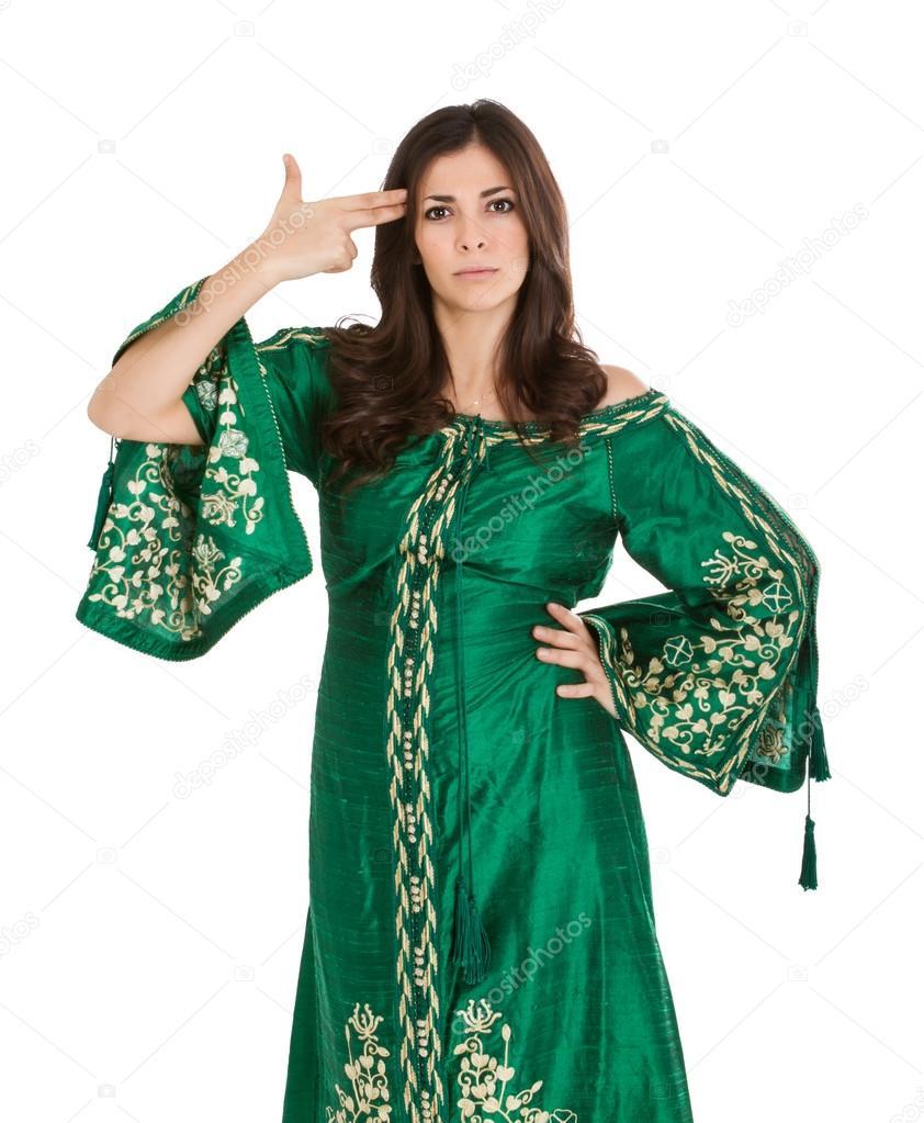Robe Arabe Verte Pour Beau Modele Photographie Marcogarrincha C 52833389