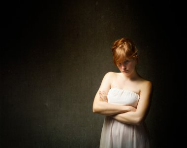 Red haired young woman