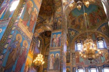 inside church of Savior on Spilled