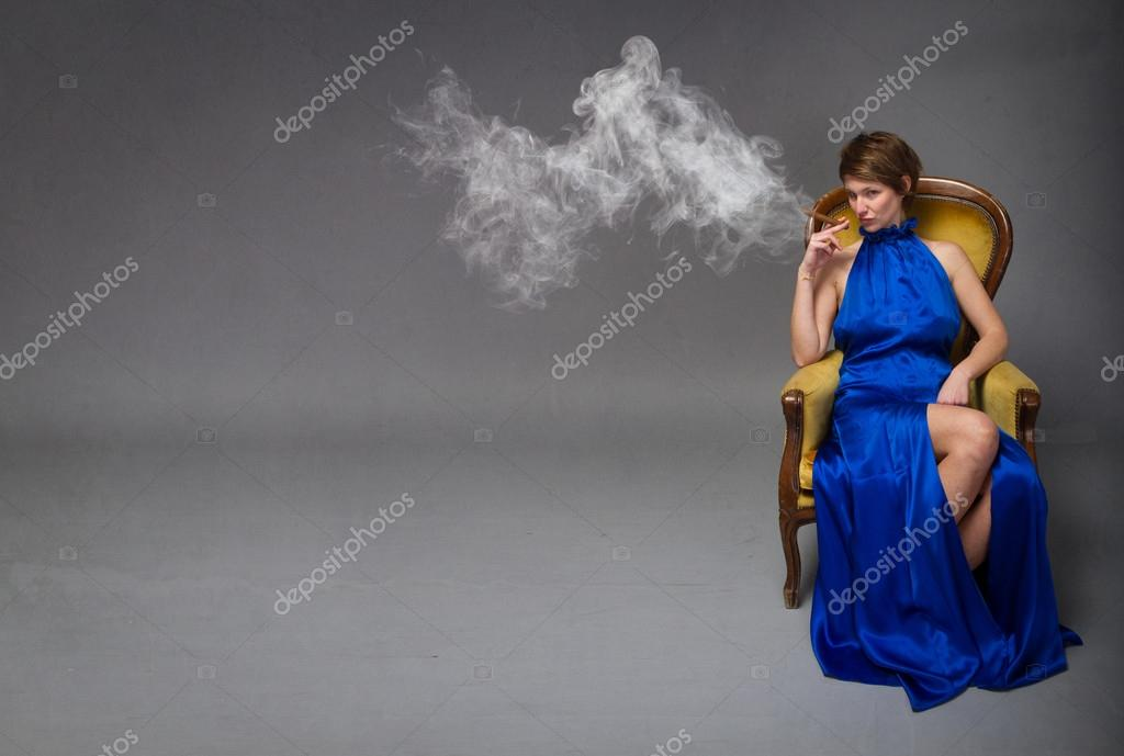 Blue dress and cigar information
