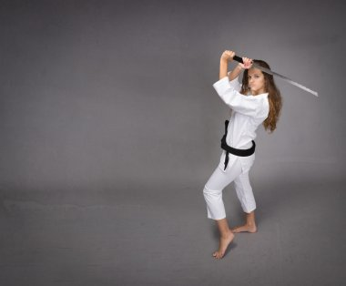 judo girl ready to defend
