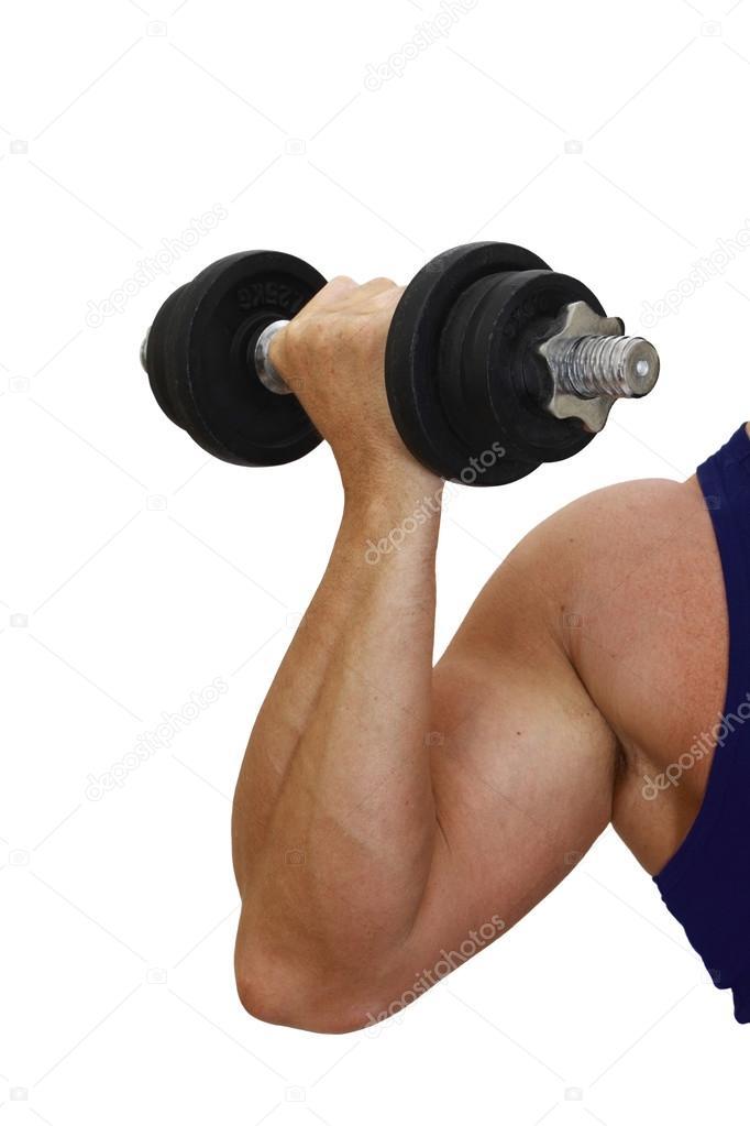 brazo musculoso — Foto de stock © choocha69 #52727037