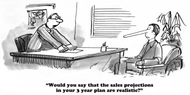 Business cartoon about strategic planning