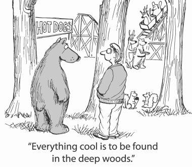 Deep woods are surprising
