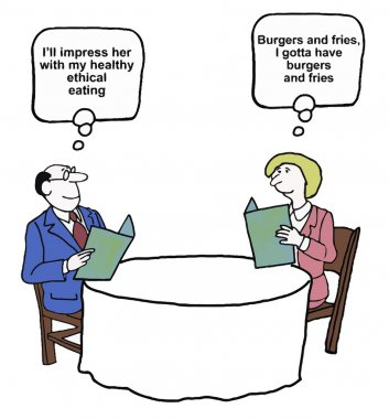 Business people having meal