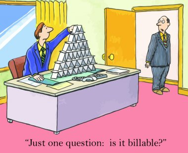 Goofing off is billable