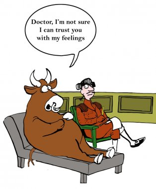 Bull cannot trust matador