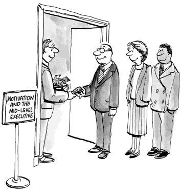 Executives receive motivation through pay incentives