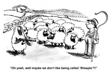 Sheep defend their rights