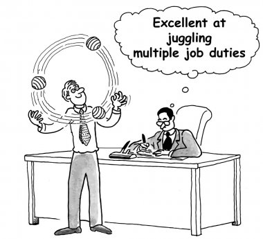 Manager can juggle many duties