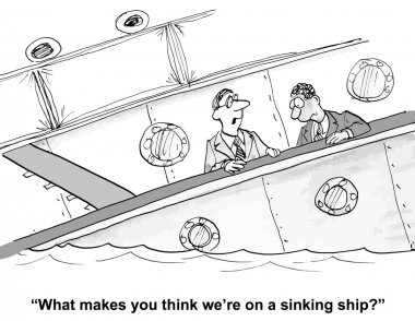 The ship is sinking