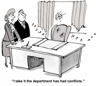 Businesswoman sees signs of conflicts