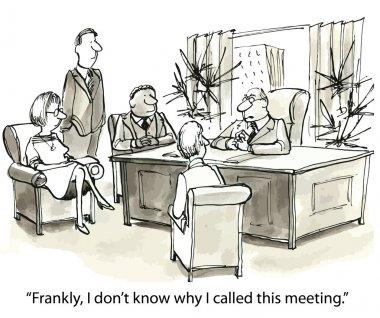 Meeting at boss stock vector